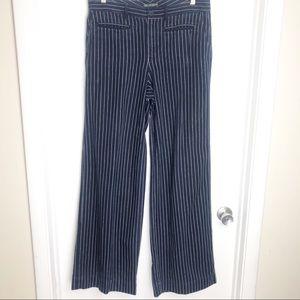 Ralph Lauren Pin stripe wide leg High Rise pants